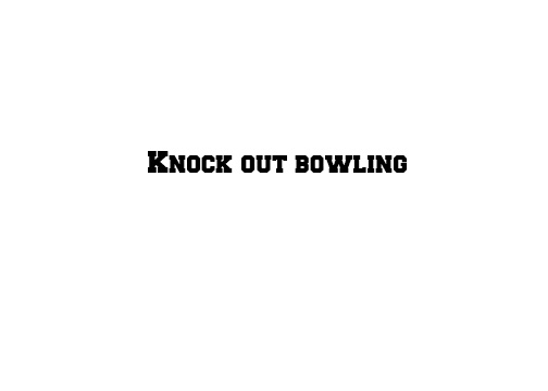 Knockout bowling 3D